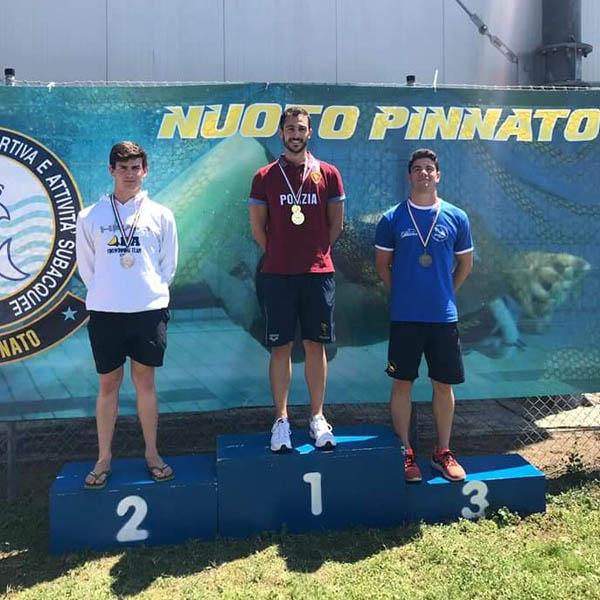 Campionati Italiani Estivi di Fondo di Nuoto Pinnato: Simone Dama conquista il terzo posto